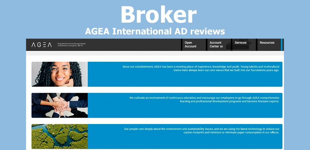 Broker AGEA International AD reviews